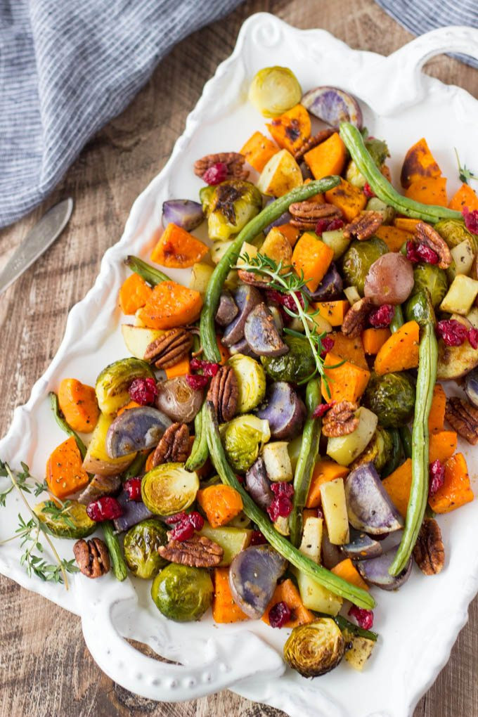 Thanksgiving Roasted Vegetables  Super Easy Roasted Winter Ve ables Simple Healthy Kitchen