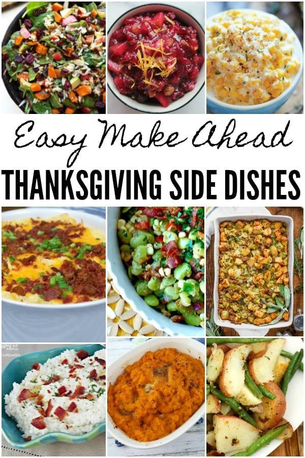 Thanksgiving Side Dishes Make Ahead  Make Ahead Thanksgiving Side Dishes Juggling Act Mama