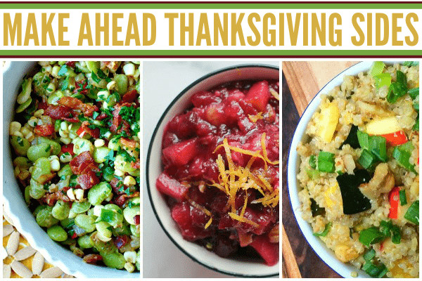 Thanksgiving Side Dishes Make Ahead  thanksgiving ve able side dishes make ahead