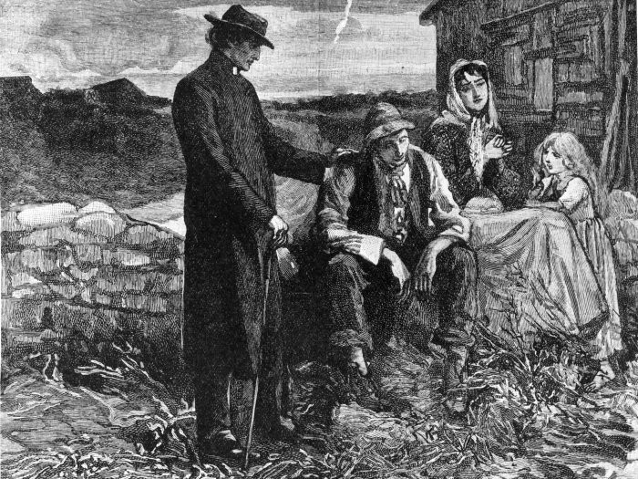 The Great Potato Famine  Kindred Spirits Why Did The Irish Build A Monument In