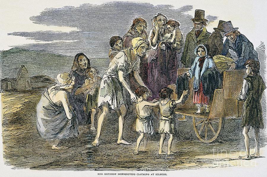 The Great Potato Famine  Irish Great Potato Famine graph by Granger