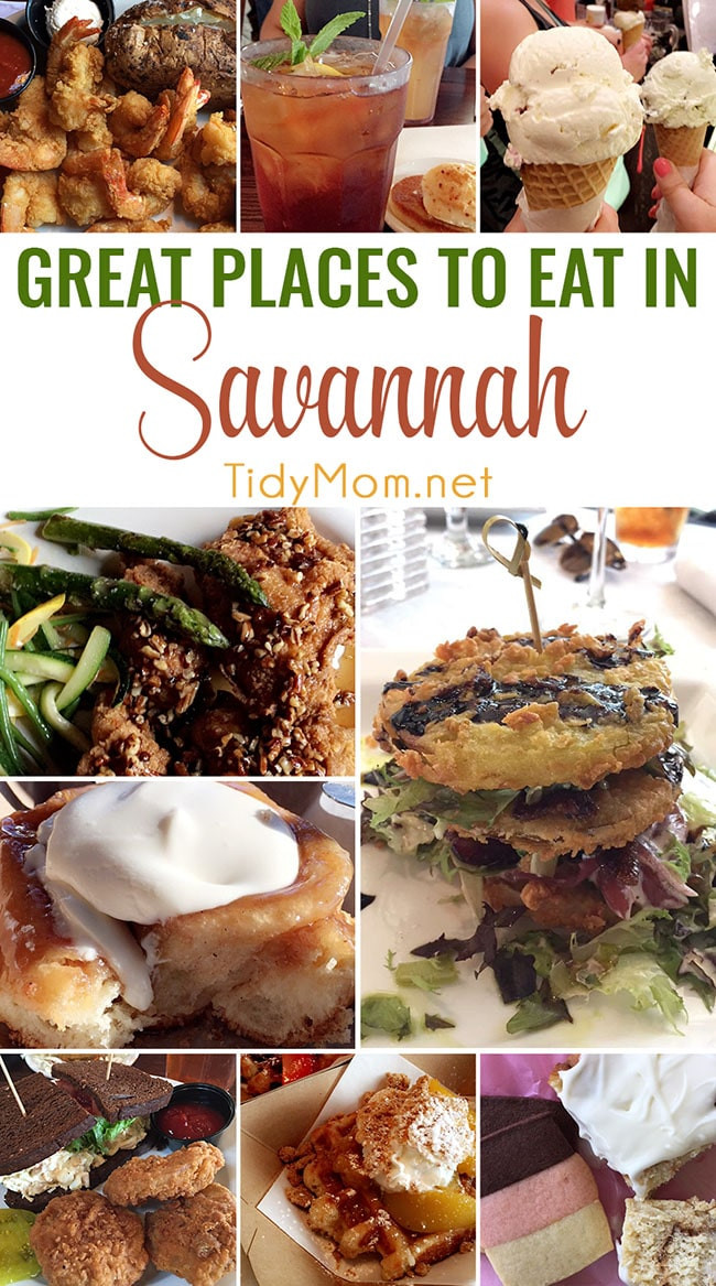 Things To Eat For Dinner  Great Places to Eat in Savannah Georgia