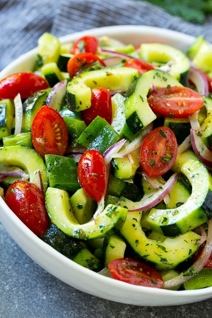 Tomato Onion Cucumber Salad  Cucumber Tomato Salad Dinner at the Zoo