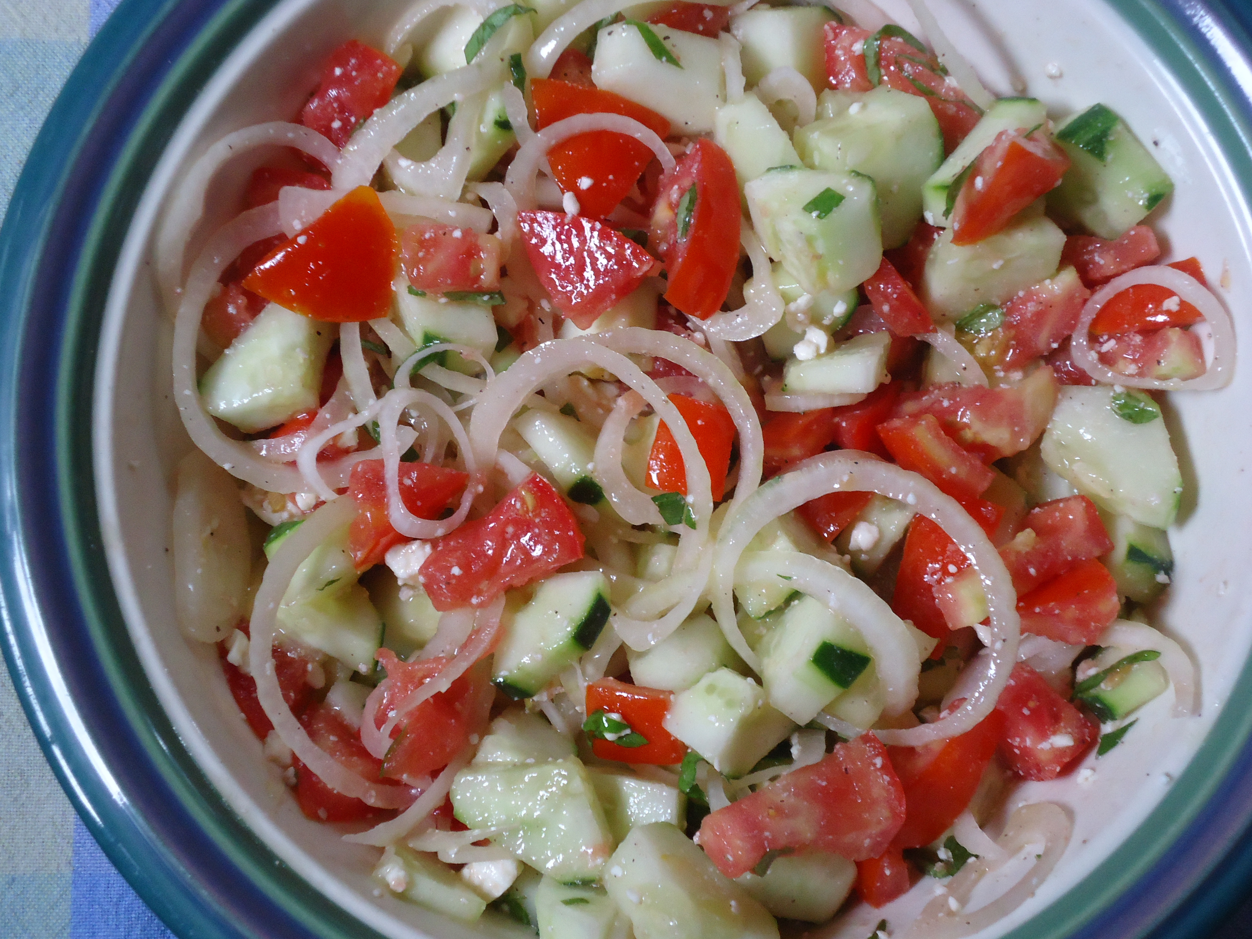 Tomato Onion Cucumber Salad  Tomato Cucumber and ion Salad