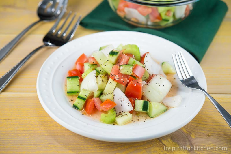 Tomato Onion Cucumber Salad  Tomato Cucumber ion Salad Inspiration Kitchen