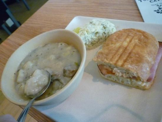 Tomato Pie Cafe Harrisburg  Panini with mushroom soup Picture of Tomato Pie Cafe