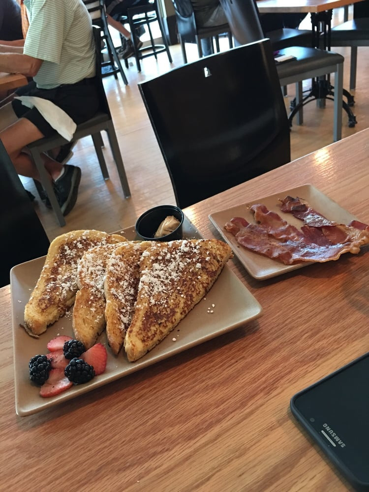 Tomato Pie Cafe Harrisburg  Kids French toast and side bacon Yelp