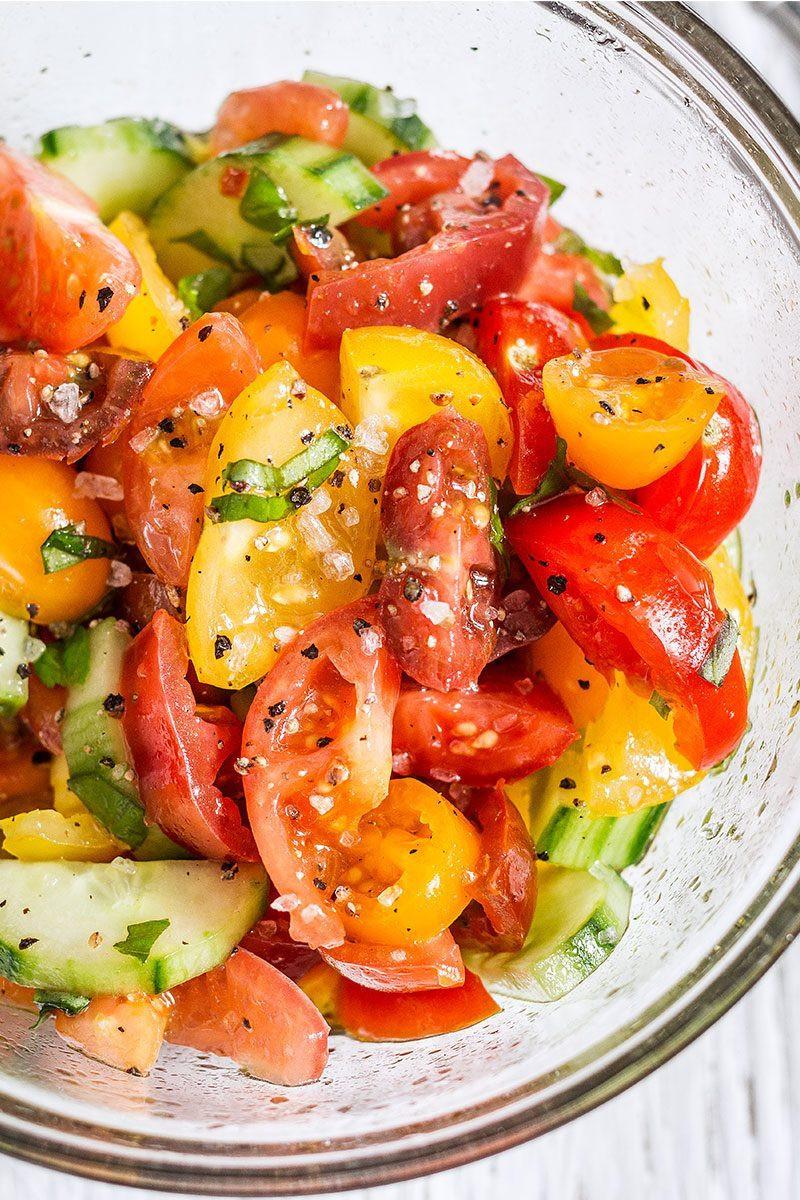 Tomato Salad Recipe  Cucumber Tomato Salad — Eatwell101