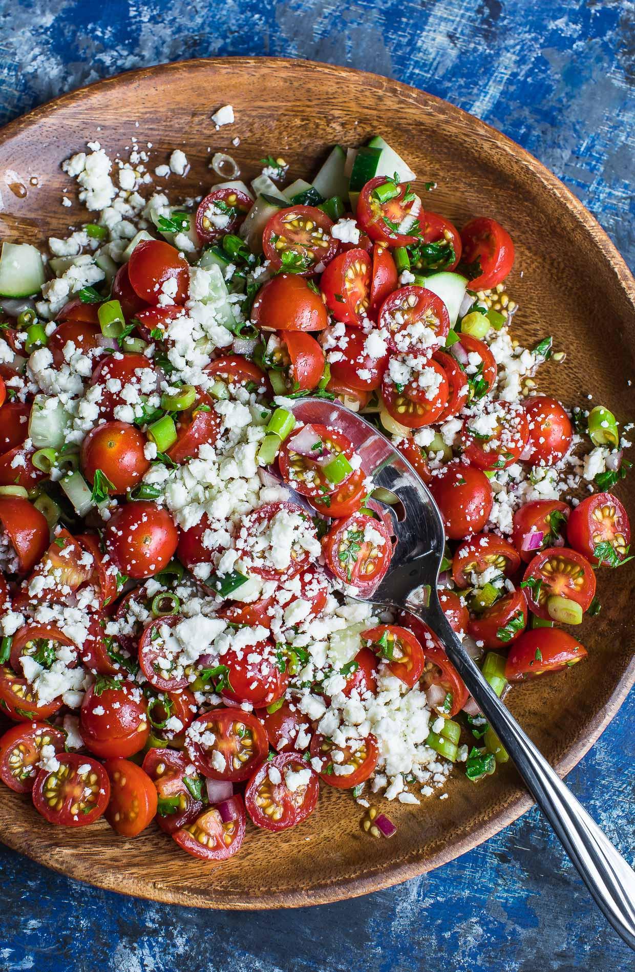Tomato Salad Recipe  Cherry Tomato Salad Peas And Crayons
