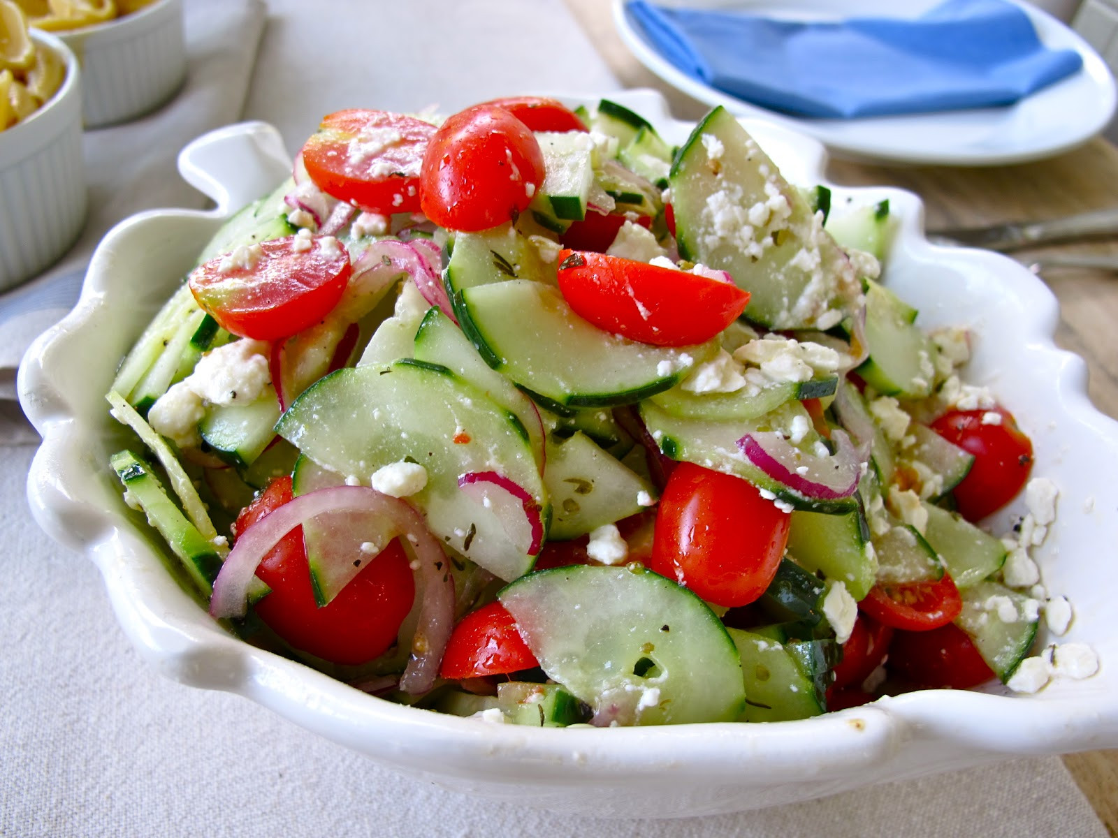 Tomato Salad Recipe  Jenny Steffens Hobick Cucumber Tomato & Feta Salad Recipe