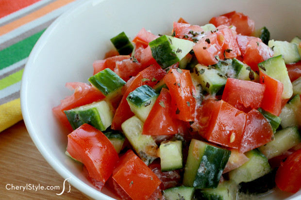 Tomato Salad Recipe  Cucumber tomato salad Everyday Dishes