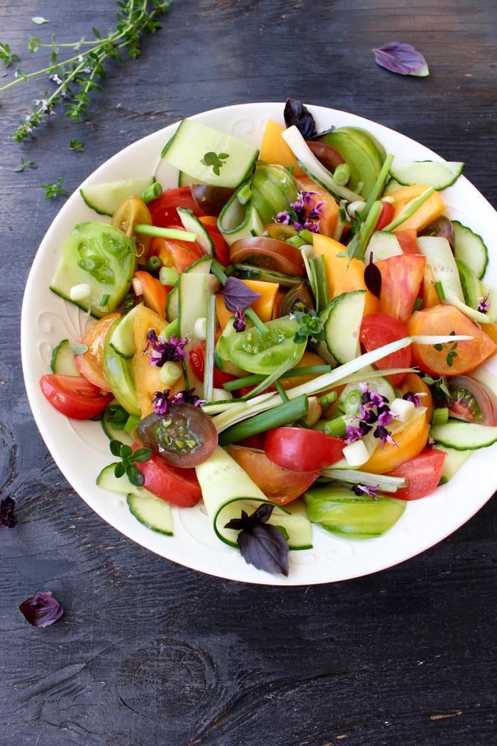 Tomato Salad Recipe  Cucumber Tomato Salad Recipe Video • CiaoFlorentina