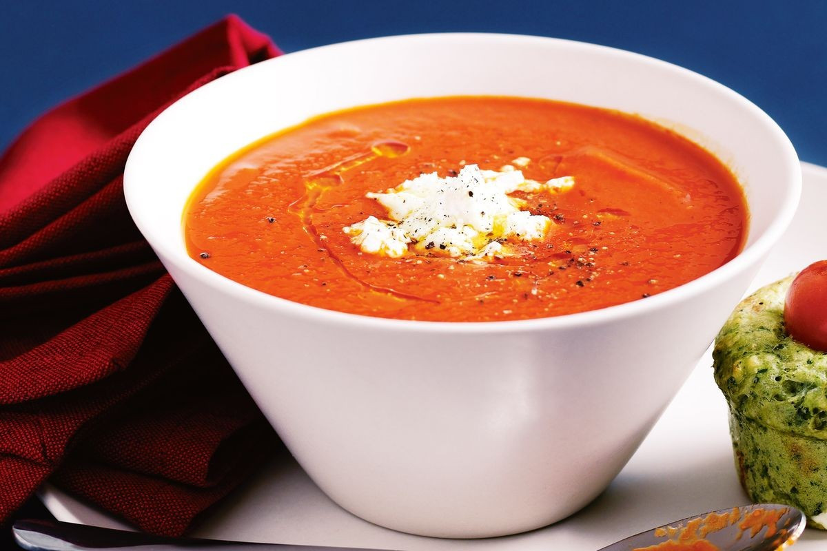 Tomato Soup Recipe  Roast capsicum and tomato soup Recipes delicious