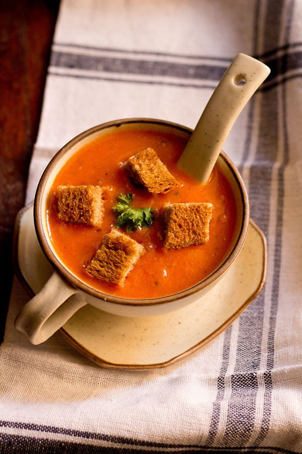 Tomato Soup Recipe  tomato soup recipe easy restaurant style delicious tomato