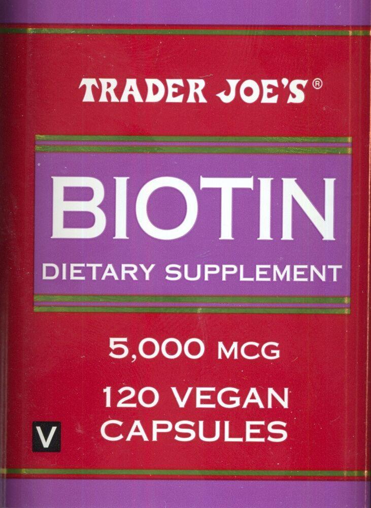Trader Joe'S Vegan Desserts  Biotin from Trader Joe s 120 Vegan Capsules per order