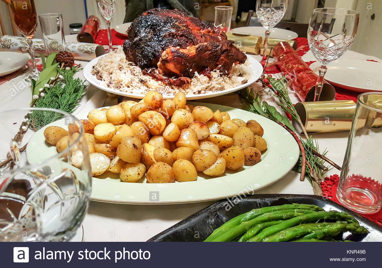Traditional Christmas Dinner  Family Eating Christmas Dinner Stock s & Family