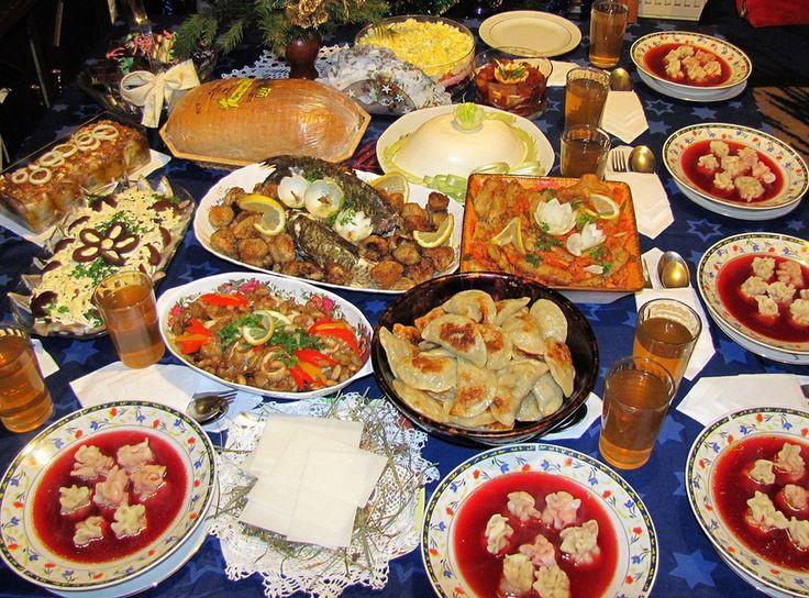 Traditional Christmas Dinner  Traditional polish Christmas Eve dinner has to have 12