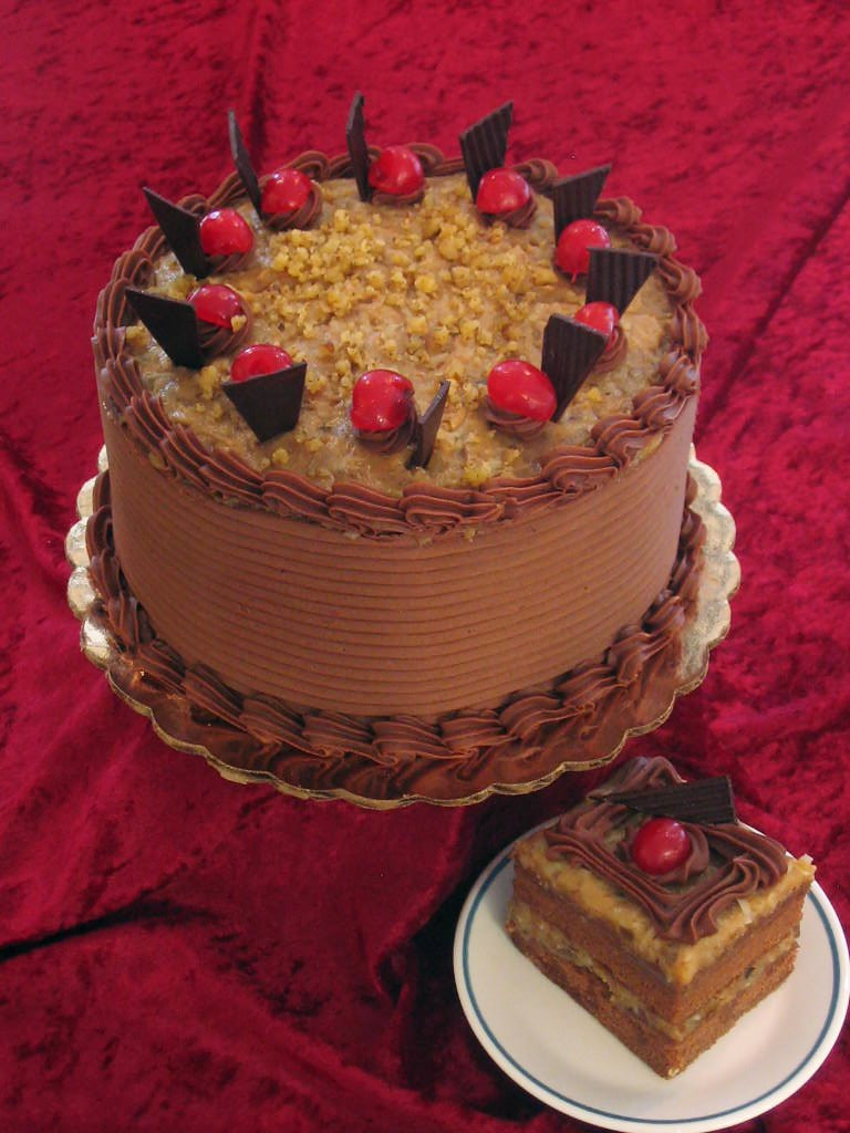 Traditional German Chocolate Cake  Christmas Recipes in a jar 2014 easy for Partiess in the
