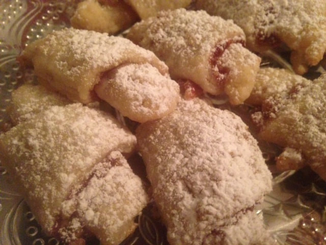 Traditional Hanukkah Cookies  Gram s RASPBERRY or APRICOT RUGELACH cream cheese butter