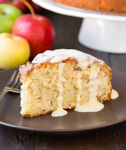 Traditional Irish Desserts  Irish Apple Cake With Custard Sauce