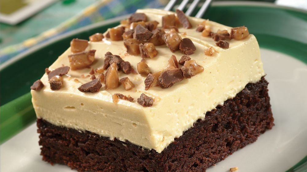 Traditional Irish Desserts  Irish Cream Topped Brownie Dessert Recipe Pillsbury