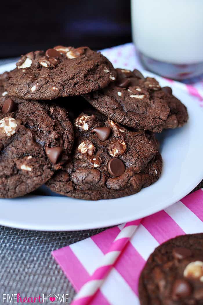 Triple Chocolate Cookies  Triple Chocolate Fudge Cookies