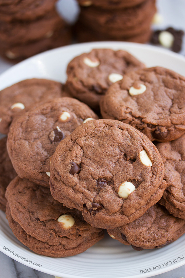 Triple Chocolate Cookies  Triple Chocolate Cookies Table for Two
