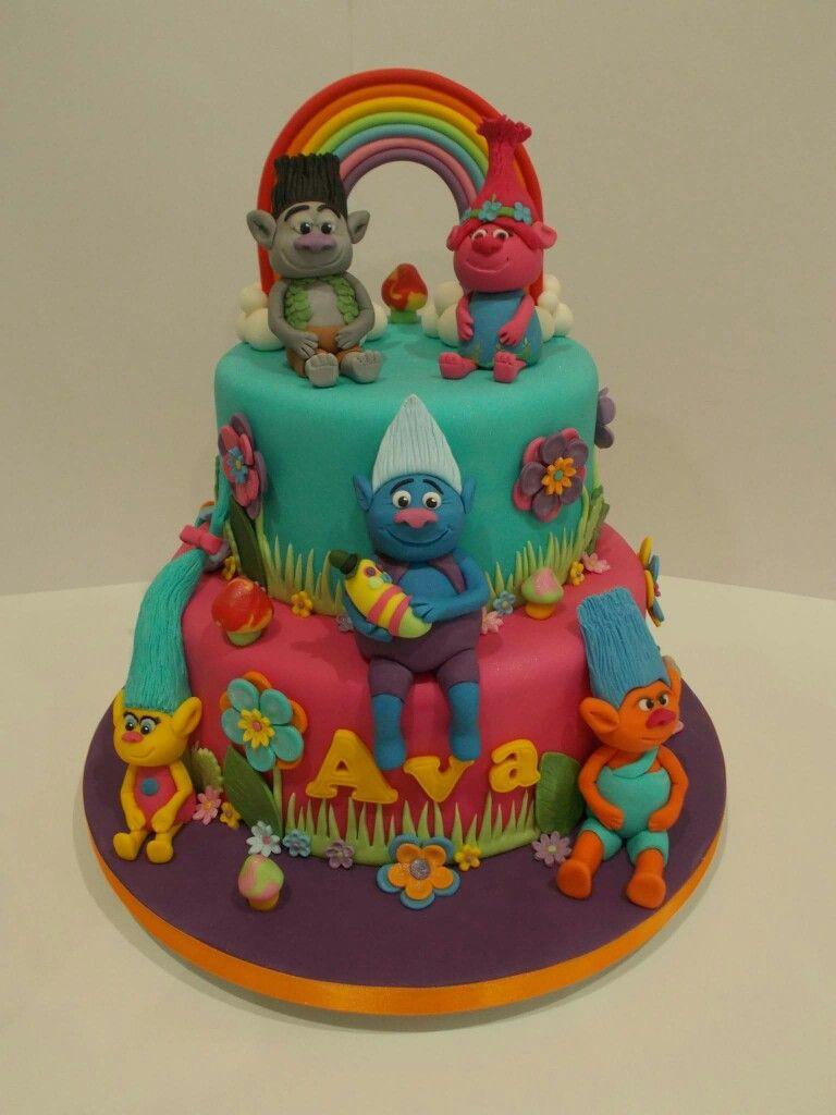 Troll Birthday Cake  Trolls cake Cakes Pinterest