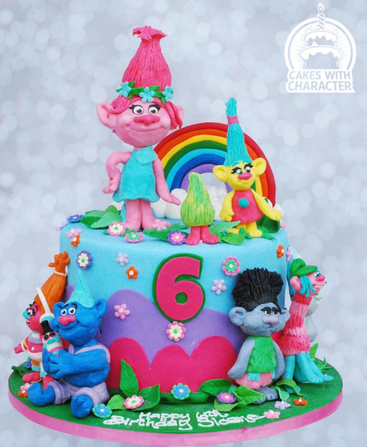 Troll Birthday Cake  Trolls birthday cake cake by Jean A Schapowal CakesDecor