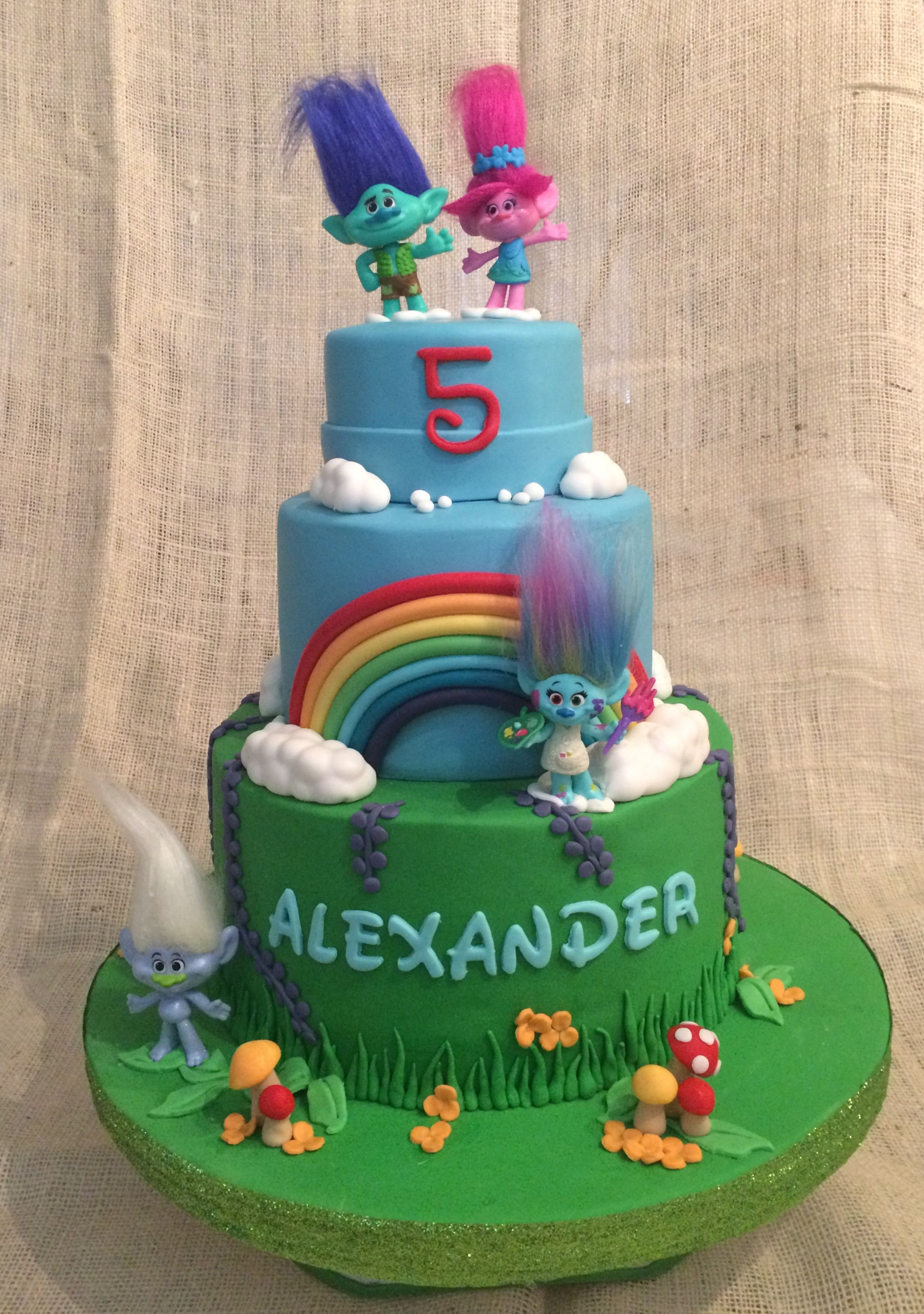 Troll Birthday Cake  Trolls cake Birthday cakes Pinterest