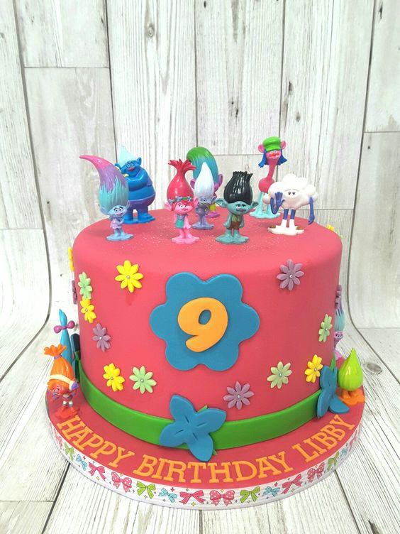 Troll Birthday Cake  Trolls cake Romy Pinterest