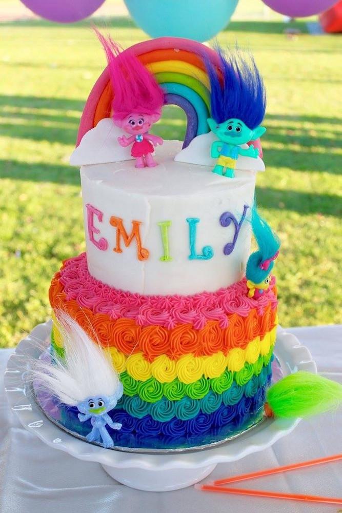 Troll Birthday Cake  Trolls Party