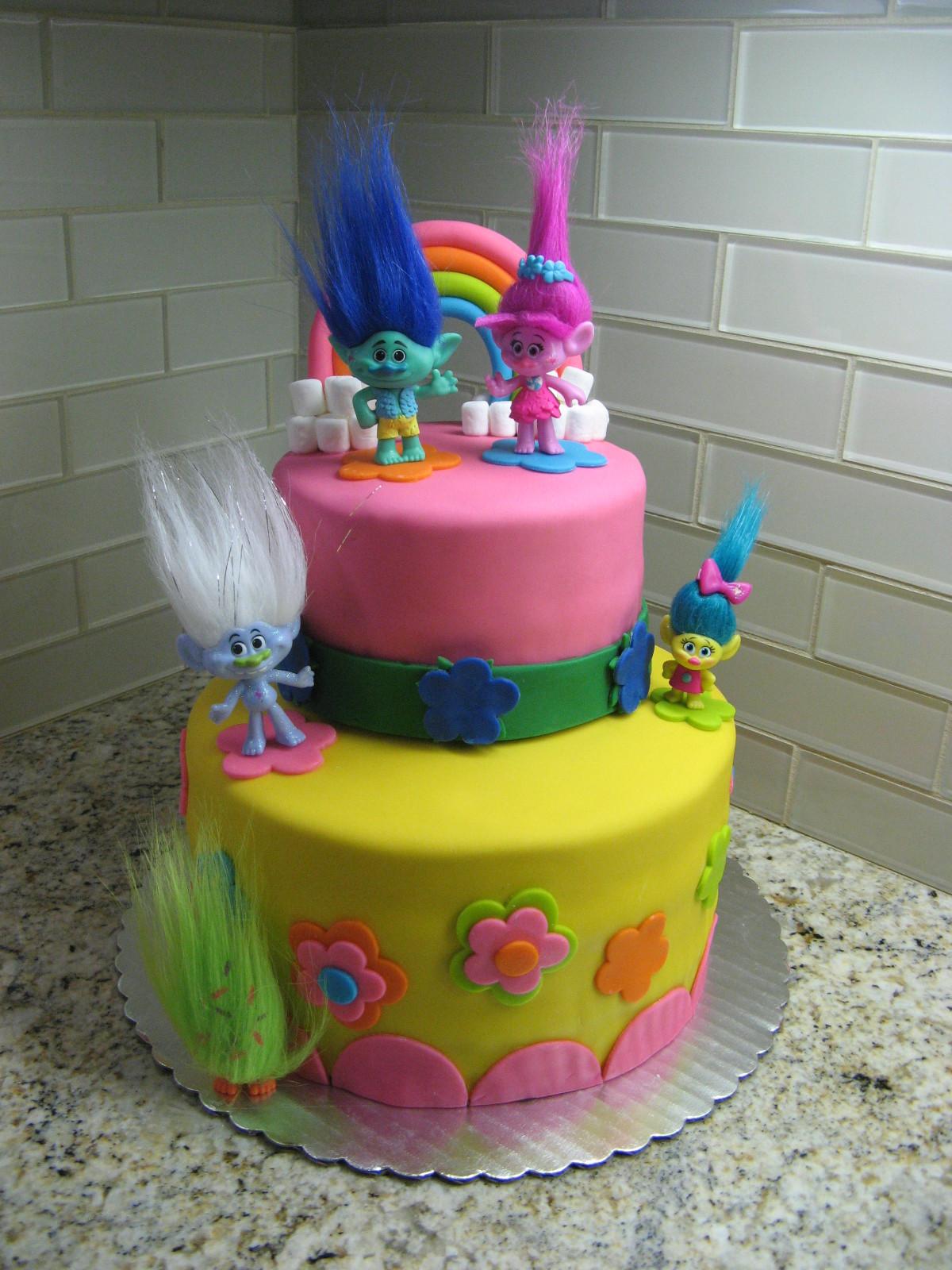 Troll Birthday Cake  Happy Blogiversary and a Trolls Inspired Cake