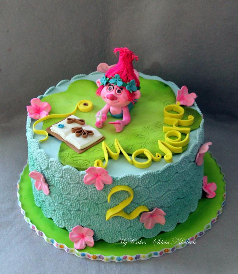 Troll Birthday Cake  Trolls Cake cake by marulka s CakesDecor