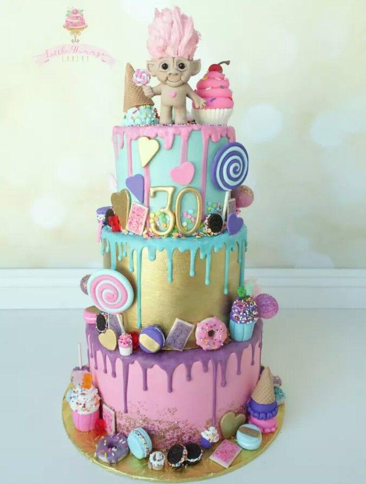Troll Birthday Cake  Southern Blue Celebrations TROLLS CAKES