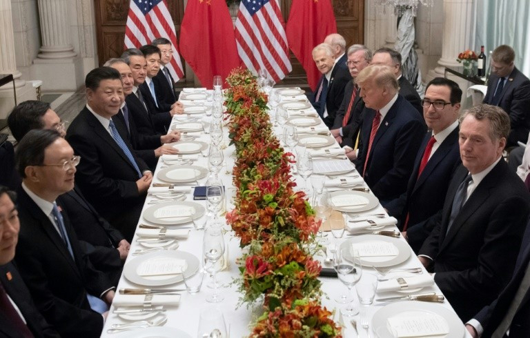 Trump Xi Dinner  US and China in trade tariffs truce after tense G20 summit