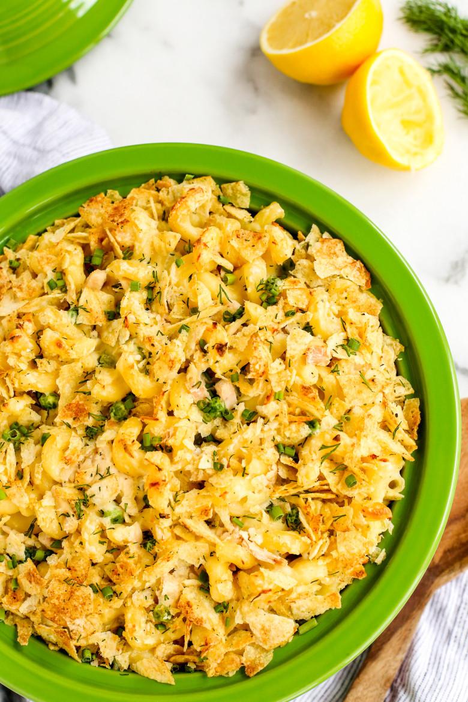 Tuna Fish Casserole  Sour Cream and ion Tuna Noodle Casserole