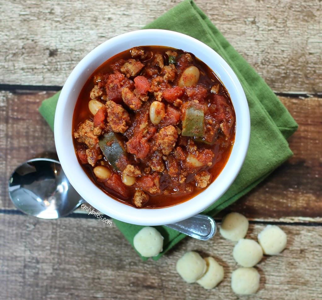Turkey Chili Recipes  The Best Turkey Chili Emily Bites