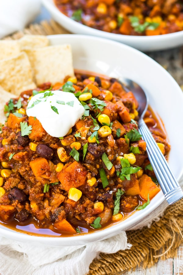 Turkey Chili Recipes  healthy ground turkey chili