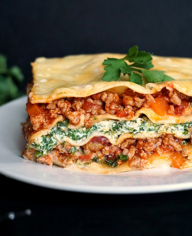 Turkey Lasagna Recipe  Healthy Turkey Lasagna with Spinach and Ricotta My