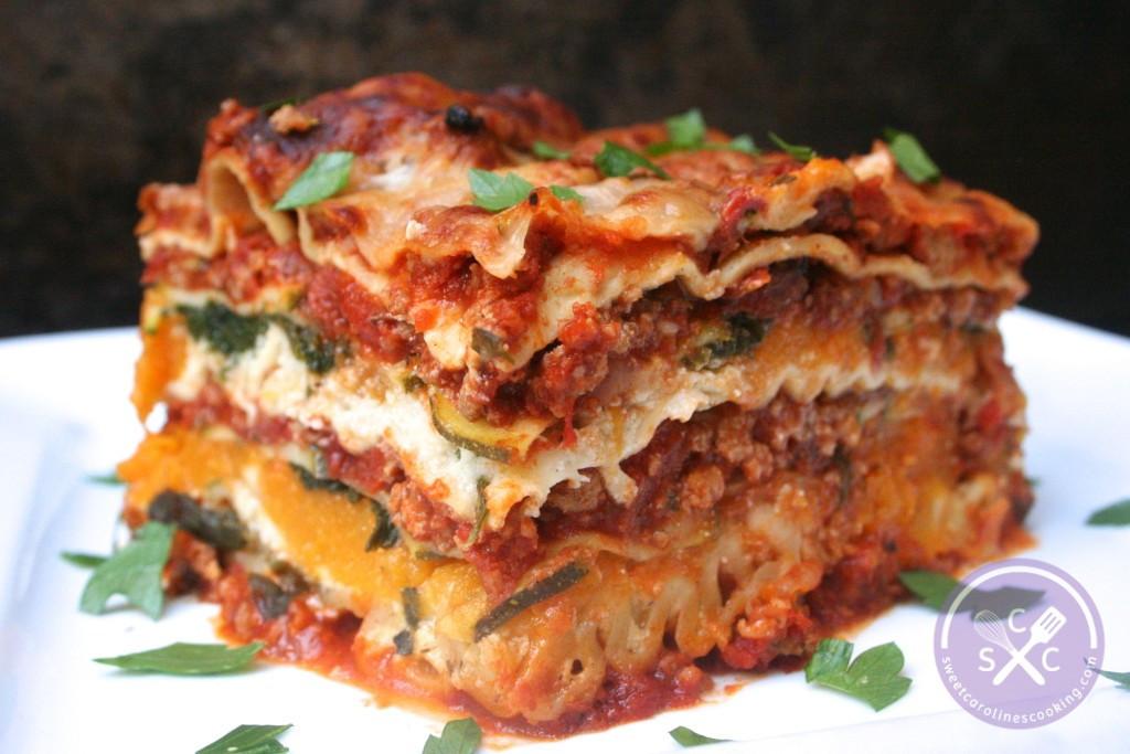 Turkey Lasagna Recipe  stack it up [ground turkey lasagna w butternut squash
