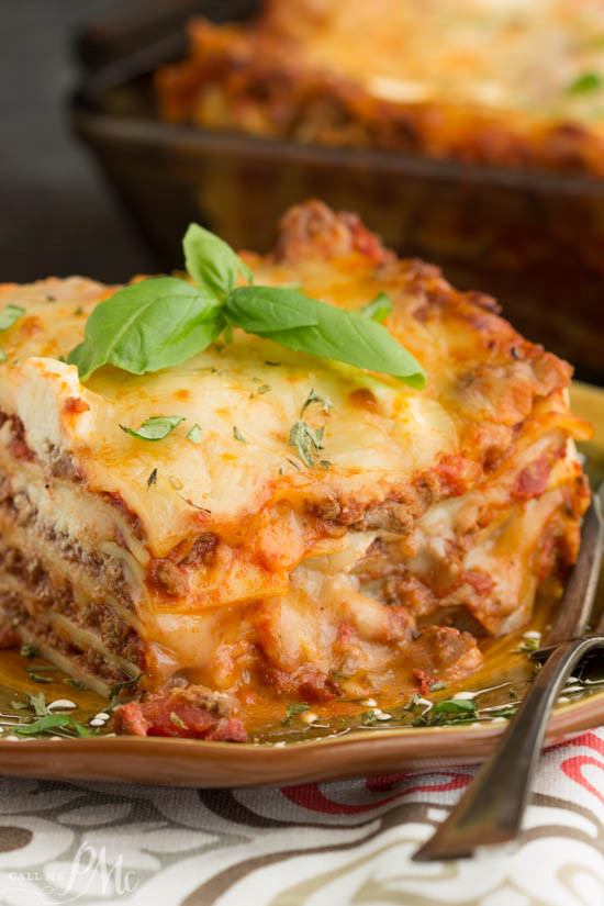 Turkey Lasagna Recipe  Classic Turkey Lasagna Recipe Call Me PMc