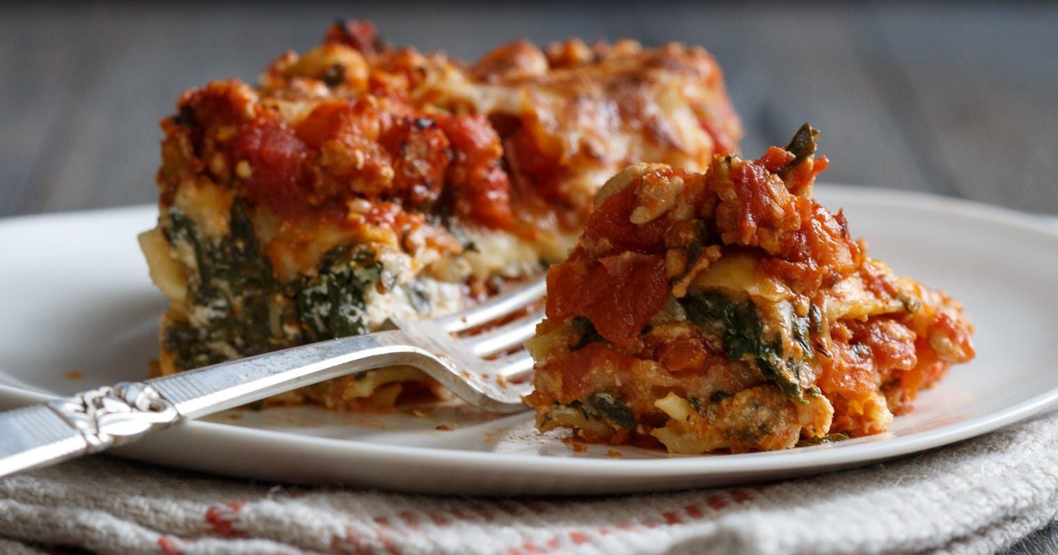 Turkey Lasagna Recipe  Best Spinach Turkey Lasagna Recipe The Yellow Table