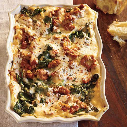 Turkey Lasagna Recipe  Turkey Sausage and Spinach Lasagna Healthy Lasagna