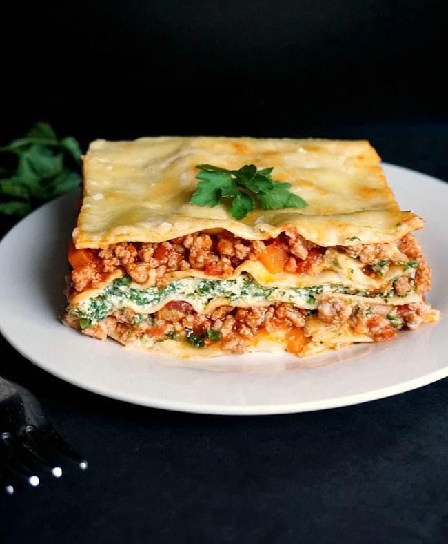 Turkey Lasagna Recipe  Turkey Spinach Lasagna Recipe with Ricotta My Gorgeous