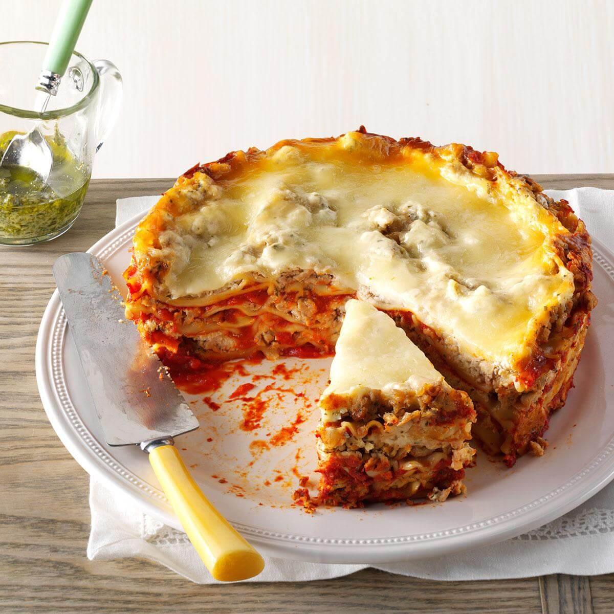 Turkey Lasagna Recipe  Slow Cooker Turkey Pesto Lasagna Recipe