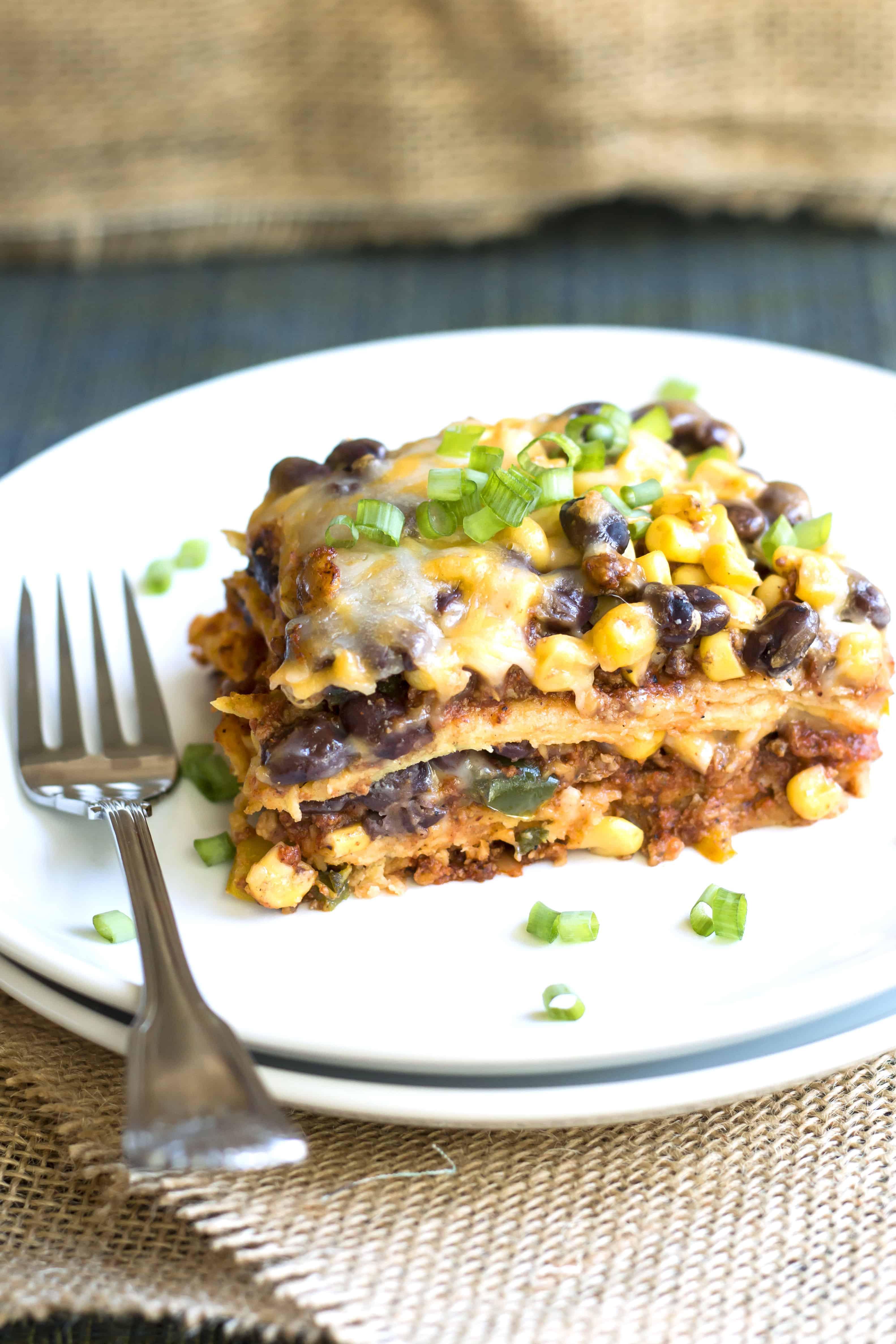 Turkey Lasagna Recipe  Ground Turkey Mexican Lasagna