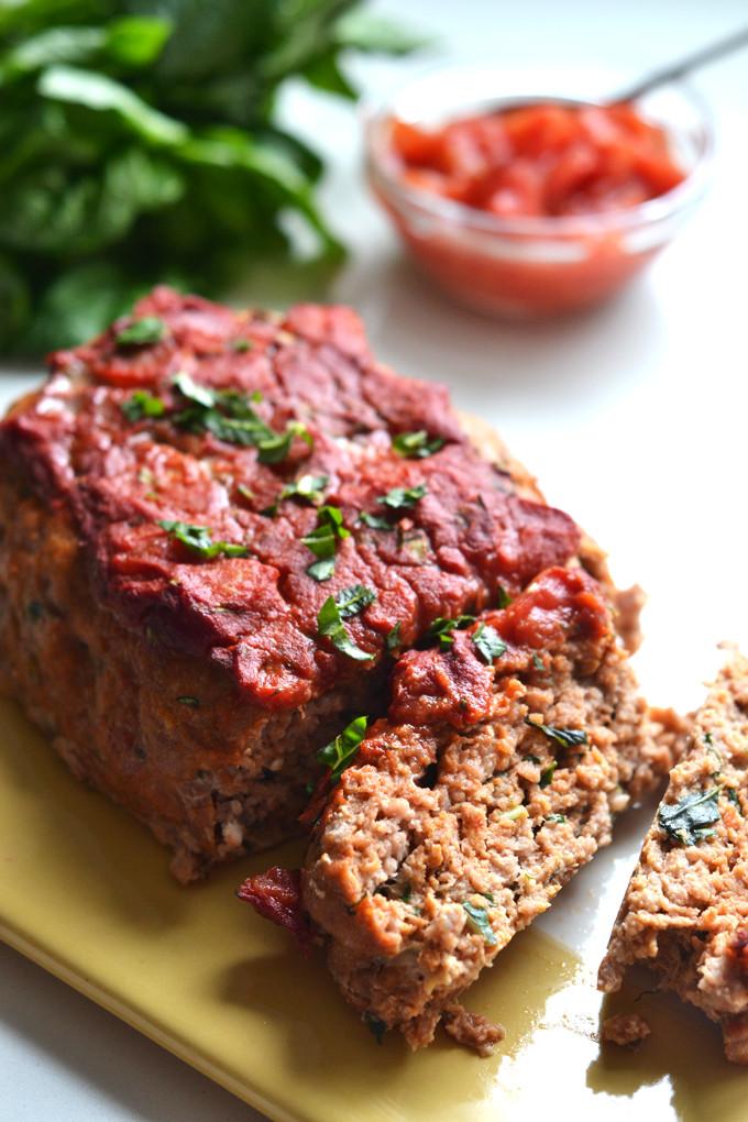 Turkey Meatloaf Recipes  Tomato Basil Turkey Meatloaf – Little Bits of…