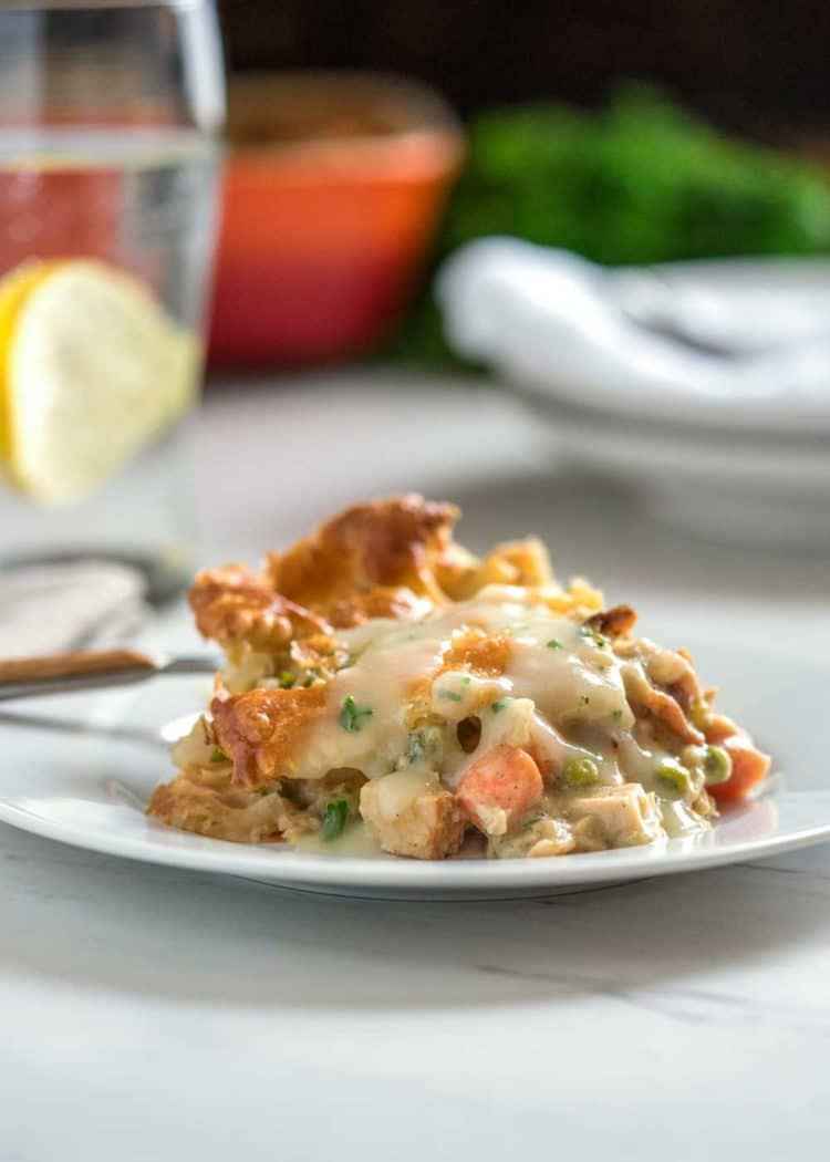 Turkey Pot Pie With Puff Pastry  Savory Turkey Pot Pie Casserole keviniscooking