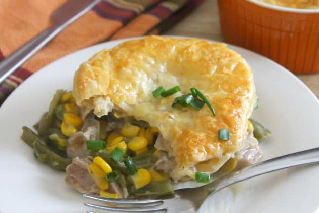 Turkey Pot Pie With Puff Pastry  Leftover Turkey Puff Pastry Pot Pies Recipe Food Fanatic